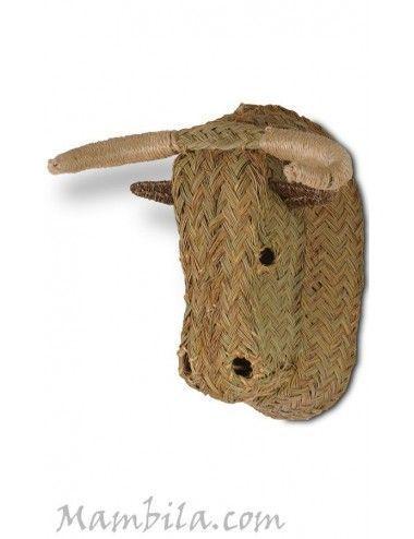 (Vendida) Cabeza de toro esparto H-1729