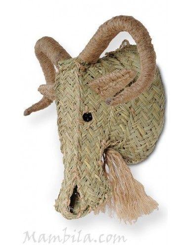 Cabeza de muflón esparto H-1874
