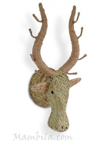 Cabeza de ciervo esparto H-1980