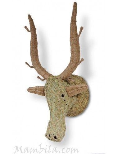 Cabeza de ciervo esparto H-1433