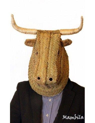 (Vendido) Campanero - Cabeza de toro esparto H-1763