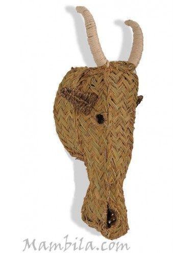 (Vendida) Cabeza de cabra esparto H-1876