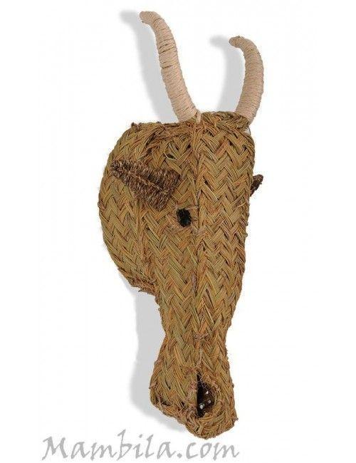 Cabeza de esparto cabra