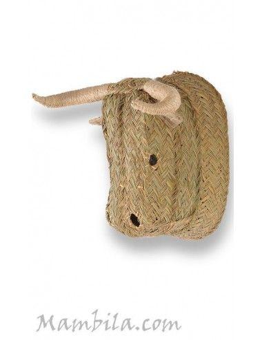 Cabeza de toro esparto H-1763