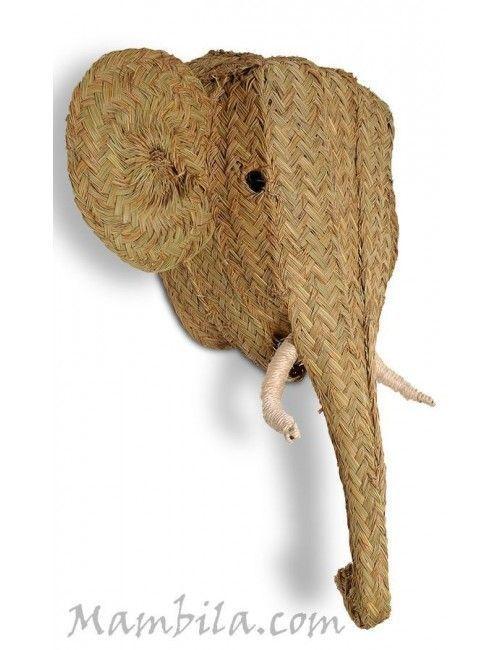 Cabeza de elefante esparto H-1749