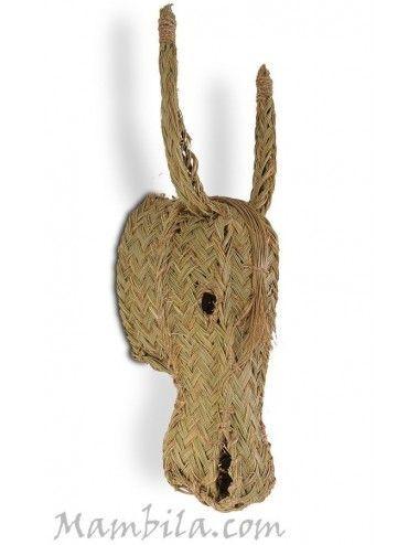 (Vendido) Cabeza de burro esparto H-2214